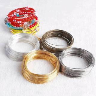 [GIN FOR FREE SHIPPING] 100Pcs Memory Steel Wire Loop For DIY Jewelry Making Beading Bracelet
