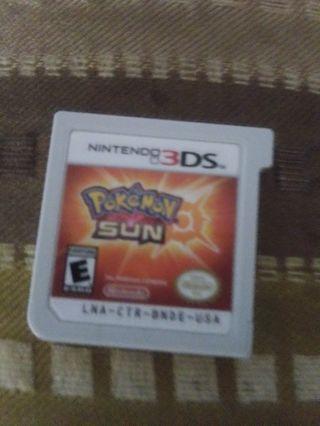 Pokemon sun 3ds game