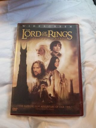 DVD Lord of the Rings The Two Towers