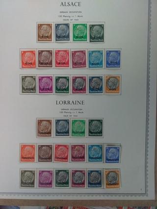 10 # Alsace/ Lorraine Stamp Lot *1940