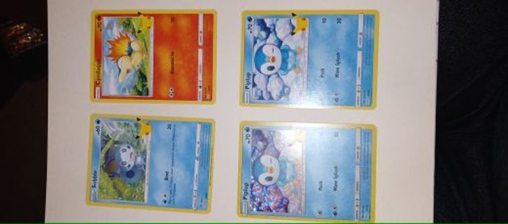 Pokemon cards from happy meal