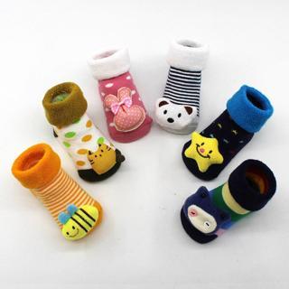 0-12M Socks Baby Cotton Cartoon Cute Animal Newborns Sole Boot Slipper Child For Boy Girl Babies S