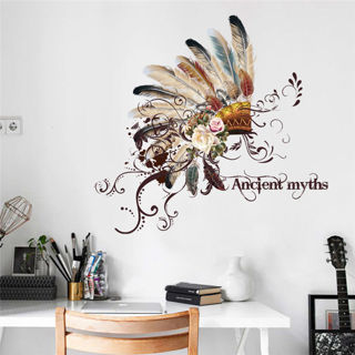 Indian Tribal Hat Wall Stickers Wall Decals Living Room Dining Room Decoration