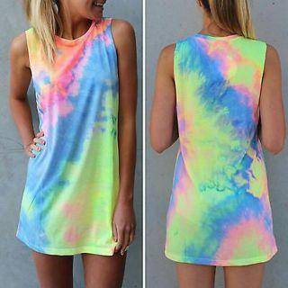Women's Celeb Summer Tops Boho Beach Sundress Short Mini Dress Ladies Beachwear