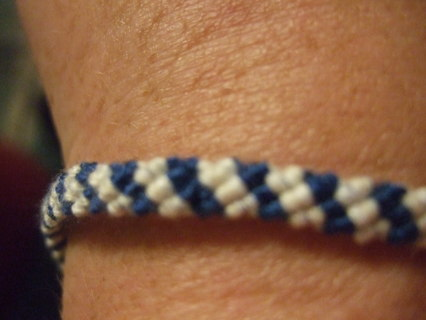 Friendship bracelets (X2) blue & white