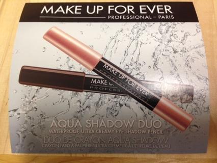 MakeUp Forever Aqua Shadow Duo Waterproof Ultra Creamy Eye Shadow Pencils (2) Brand New Make Up