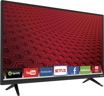 "'NEW! VIZIO 48"" Class (48"" Diag.) LED 1080p Smart HDTV Black"