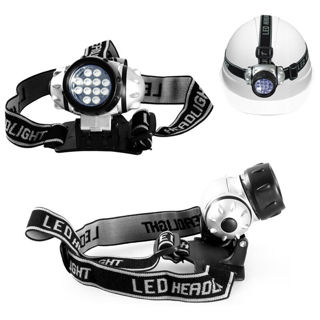 New 12 LED Outdoor Lamp Camp Headlamp Work Head Light