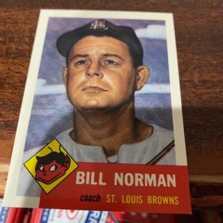1953 topps archives Bill Norman  baseball card