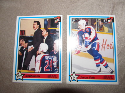 2 Ontario Hockey League 1991 Cards from 7th Inning Sketch Windsor Spitfires