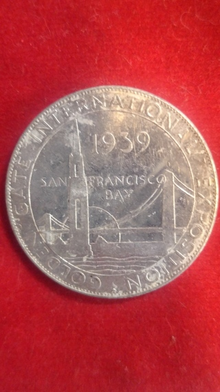 Rare 1939 Golden Gate International Exposition Token Made Of Aluminum From The Union Pacific