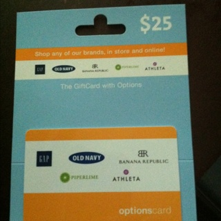 $25 Gift Card To Old Navy, The Gap, Banana Republic