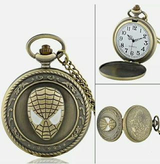 Retro Quartz Pocket Watch Antique Design Vintage Pendant Chain Necklace New