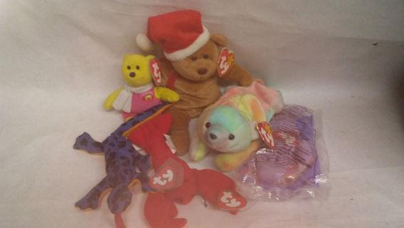 5 vintage ty original toys special Price 1997 1998 2004 NWT bean