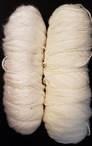 2 - Leftover White Yarns - weighs 10.5 ozs