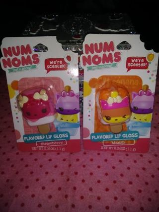 ⚛✨⚛✨⚛1 BRAND NEW NUM NOMS™ FLAVORED & SCENTED LIP GLOSS⚛✨⚛✨⚛GIN=BOTH PACKS!