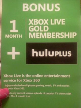 Free: Xbox live gold + huluplus redeem code - Video Game