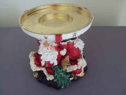 New In Box Artmark Santa Claus Pillar Candle Holder