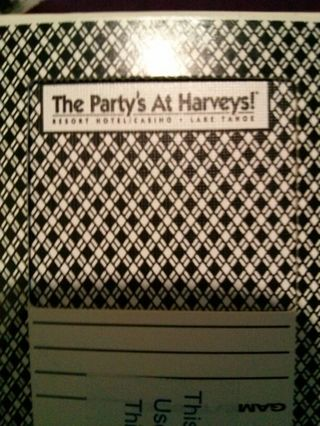 Harvey's Casino Deck of Playing Cards