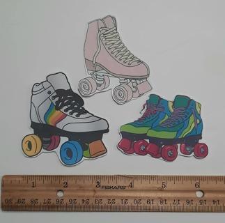 Stickers! CardMaking Scrapbooking Pen Pal Junk Journal Roller Skates 70's 80's