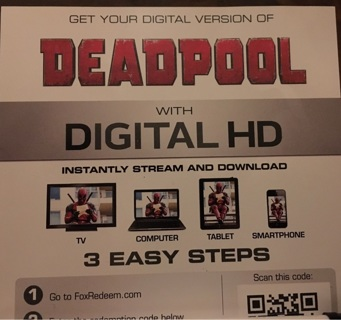 Deadpool Digital HD download