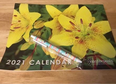 2021 yellow flower calendar