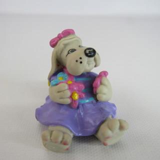 Vintage Pound Puppies Bright Eyes PVC Mini Figure 1986 Toy