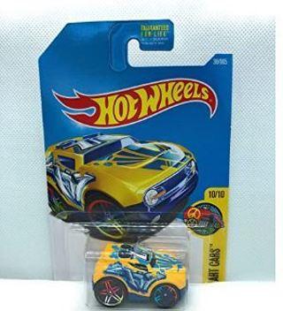 10% off! HOT WHEELS HW ART CARS 10/10 YELLOW ROCKET BOX 38/365
