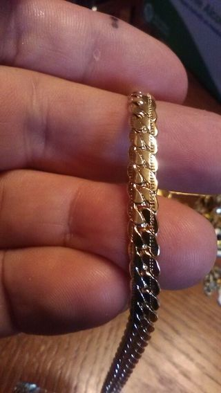 Hot Miami Cuban style Gold chain link necklace.Marked 18k.Tested 10k.