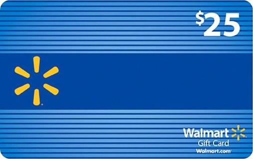 $25 GIFT CARD WALMART