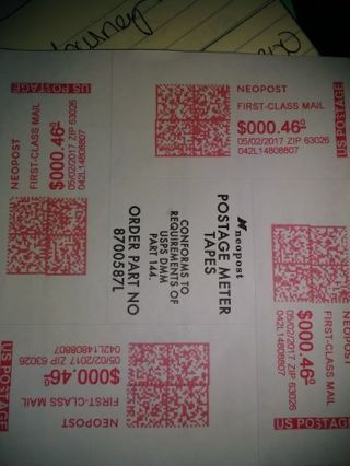 50 poztage labels