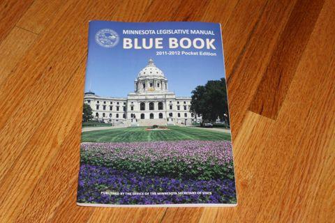 2011-2012 Minnesota Legislative Manual Blue Book Pocket Edition Walz Dayton
