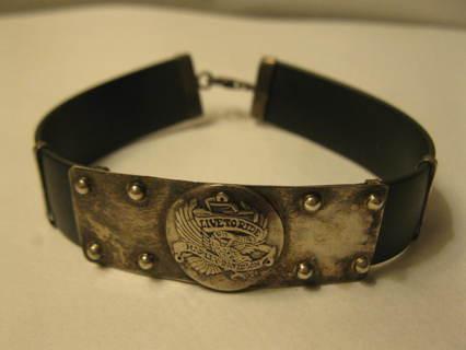 """vintage 7.5"""" Sterling Silver Harley Davidson Motorcycle Bracelet"""