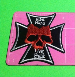 **~ Skull patch #4 Ride Hard Live Free ~**