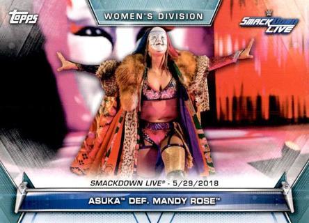 2019 Topps WWE Women's Division #72 Asuka def. Mandy Rose SMACKDOWN