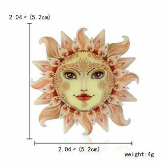 SUN Brooch Pin