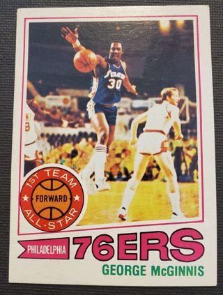 1977 George McGinnis Philadelphia 76ers Basketball Card
