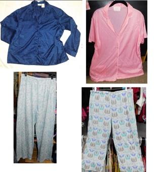 4 Piece LADIES PLUS SIZE Pajama Tops & Bottoms XL-1X (Clean/Nice)