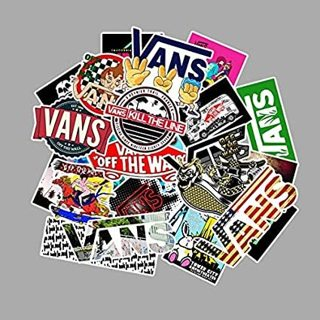 50Pcs Fashion Logo Vans Off The Wall Stickers