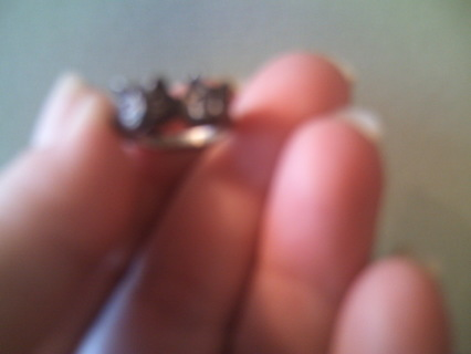 Mexican Silver *two headed* cat ring!