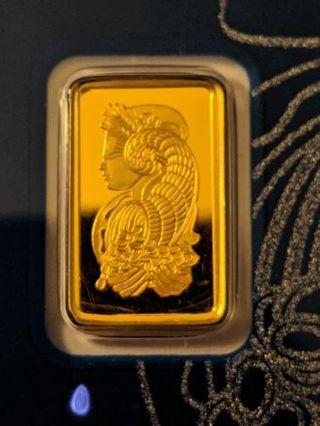 Pamp Suisse 1 Gram .9999 Gold Bar