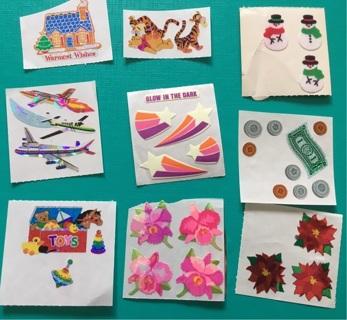 Lot of Vintage Sandylion Sticker Modules / Squares