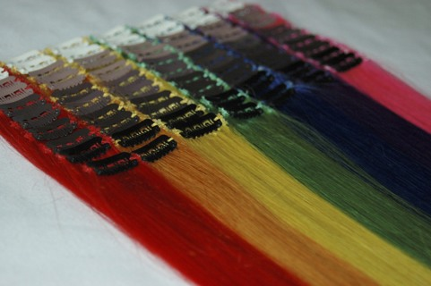 """Pair (2) of 8"""" 100% Human Hair extensions BRAND NEW you choose color"""