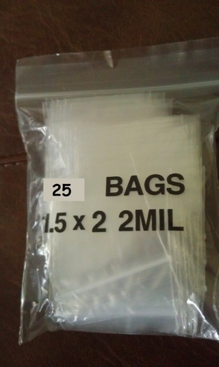 "QTY 50- 1.5"" x 2"" - 2MIL - CLEAR POLY ZIP BAGS - FREE SHPG :D"