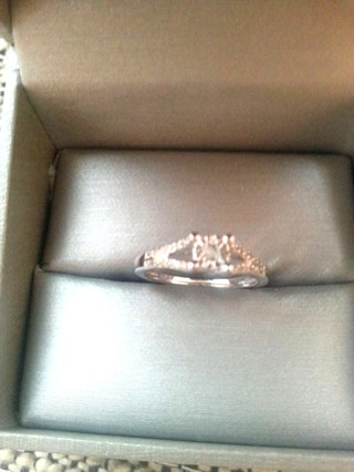 Brand New Diamond Accents Solid 10k White Gold Ring From Zales Gift Box