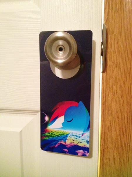 Free my little pony friendship is magic door sign rainbow for My little magic door