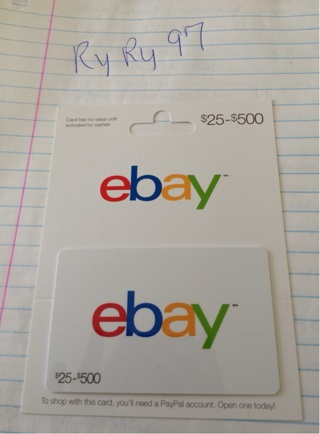Free 50 Ebay Gift Card Gift Cards Listia Com Auctions For Free Stuff
