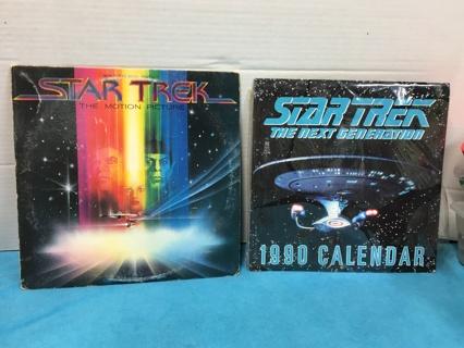 L180 STAR TREK THE MOTION PICTURE RECORD ALBUM & 1990 CALENDAR