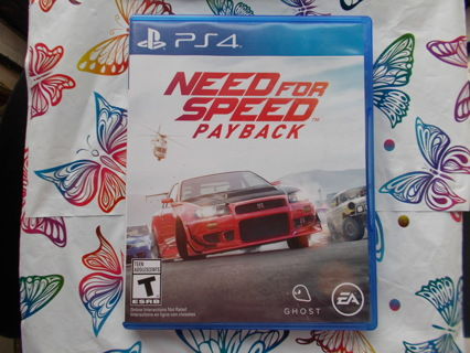 Need For Speed Payback PS4 Video Game Case