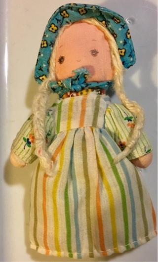 Little vintage dolls five inches Tall Made for little hands.